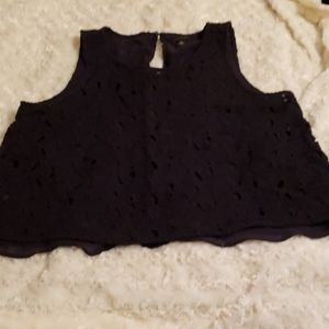 Ann Taylor lace black camisole XL, like new
